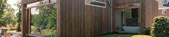 Natuurlijke materialen en Chinese deur in Wassenaarse villa